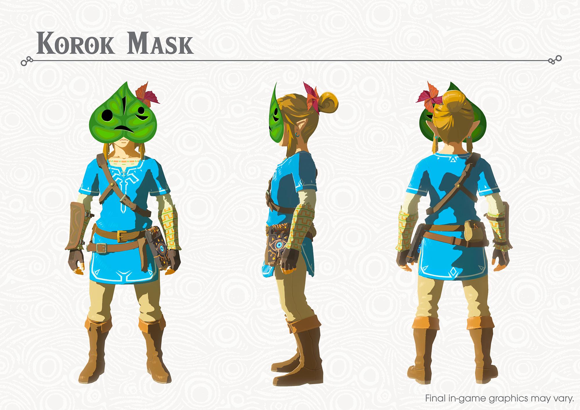 The Legend of Zelda Breath of the Wild Korok Mask