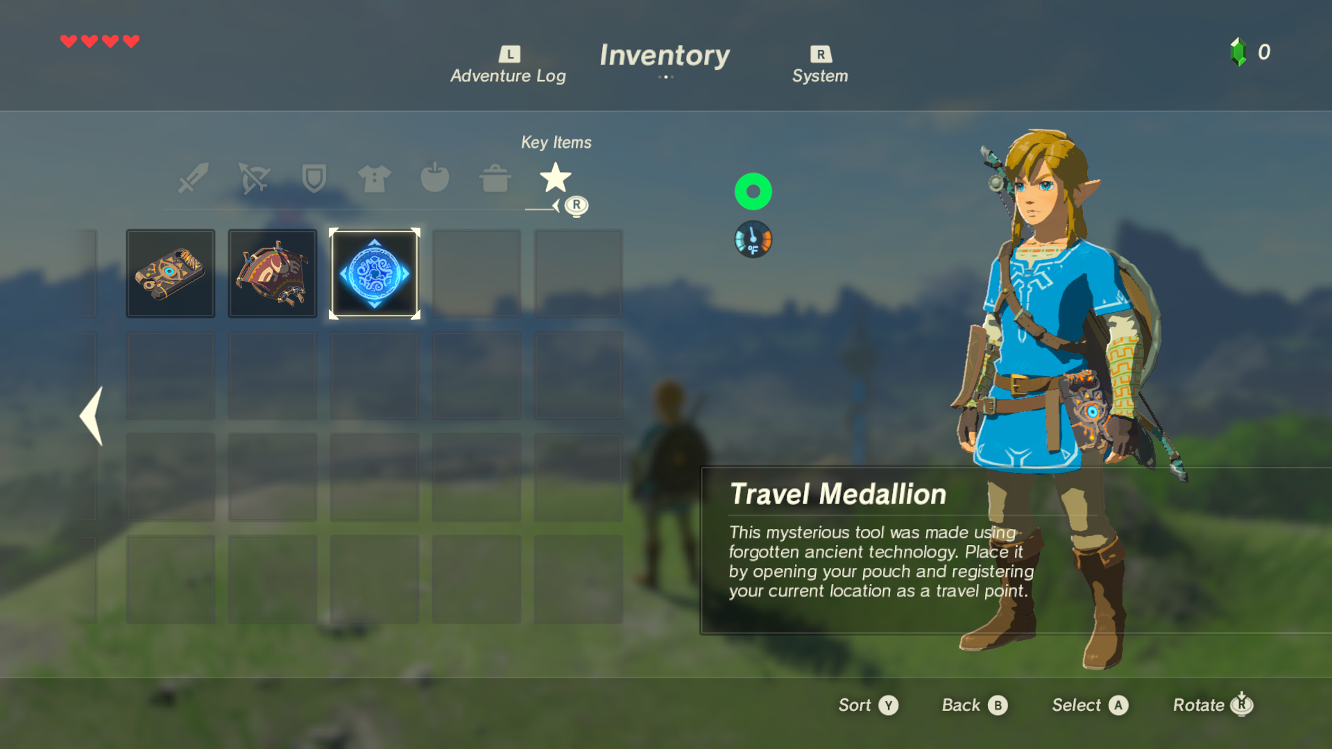 The Legend of Zelda Breath of the Wild Travel Medallion Screen 1