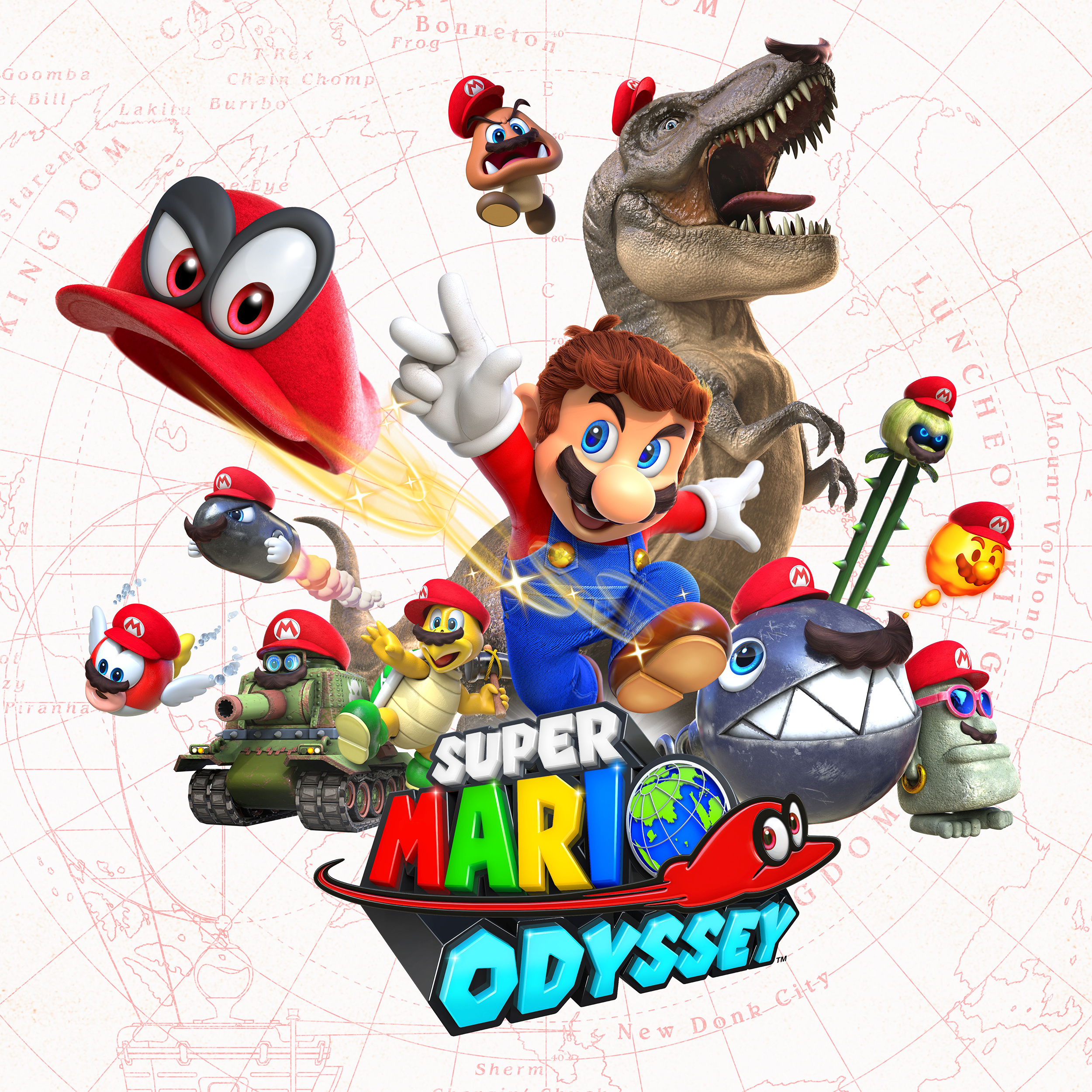 Super Mario Odyssey Screen Key Art