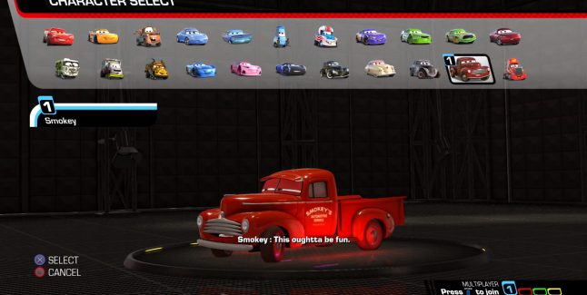 Cars 3: Driven to Win Game Unlockable Characters