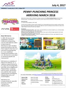 Penny Punching Princess Press Release