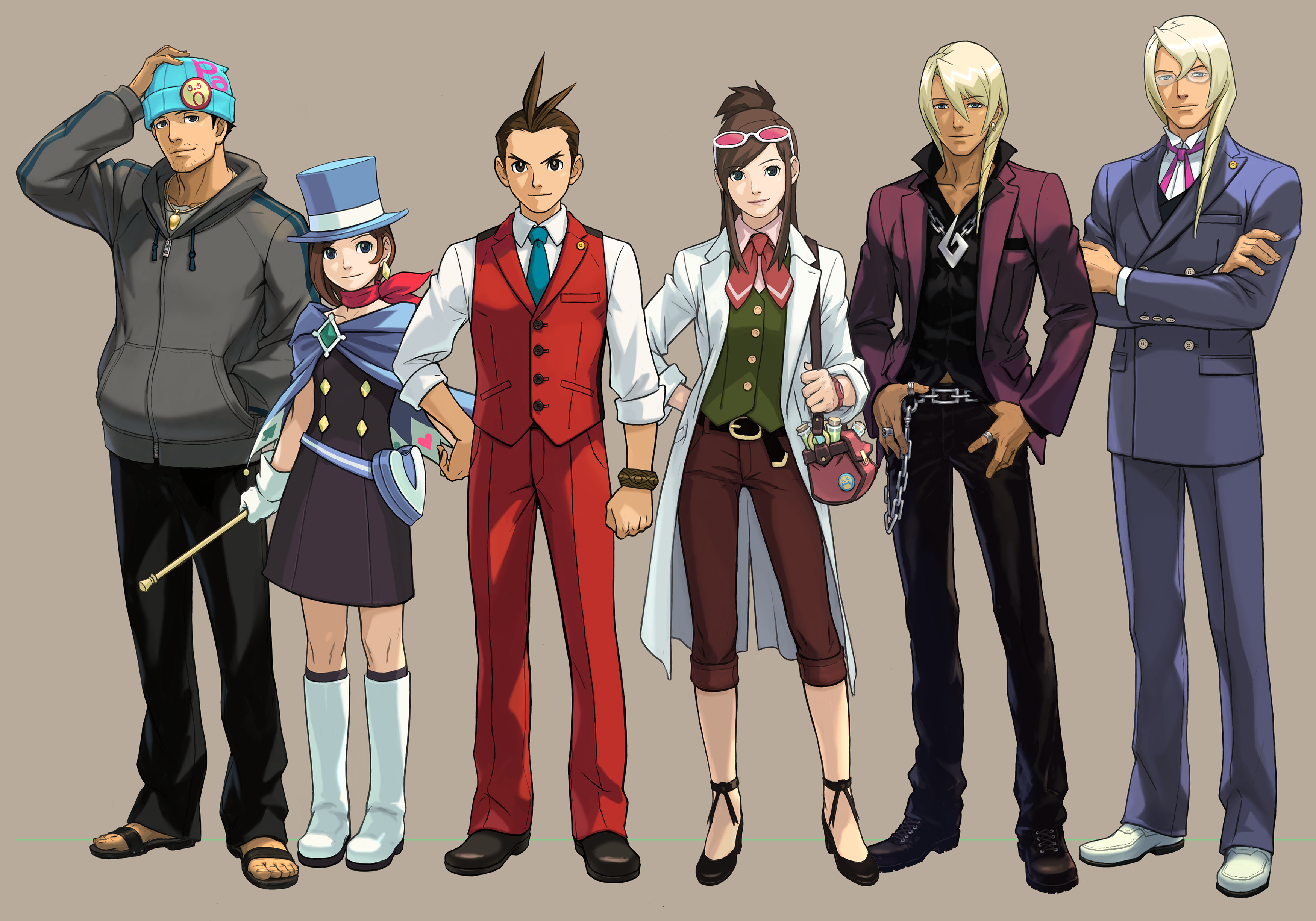 Apollo Justice Ace Attorney Characters Art