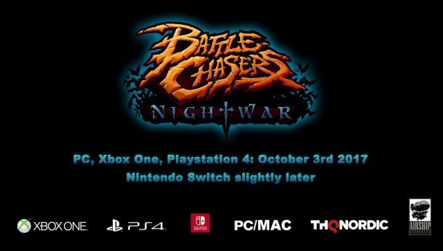 Battle Chasers: Nightwar Switch Version Delayed