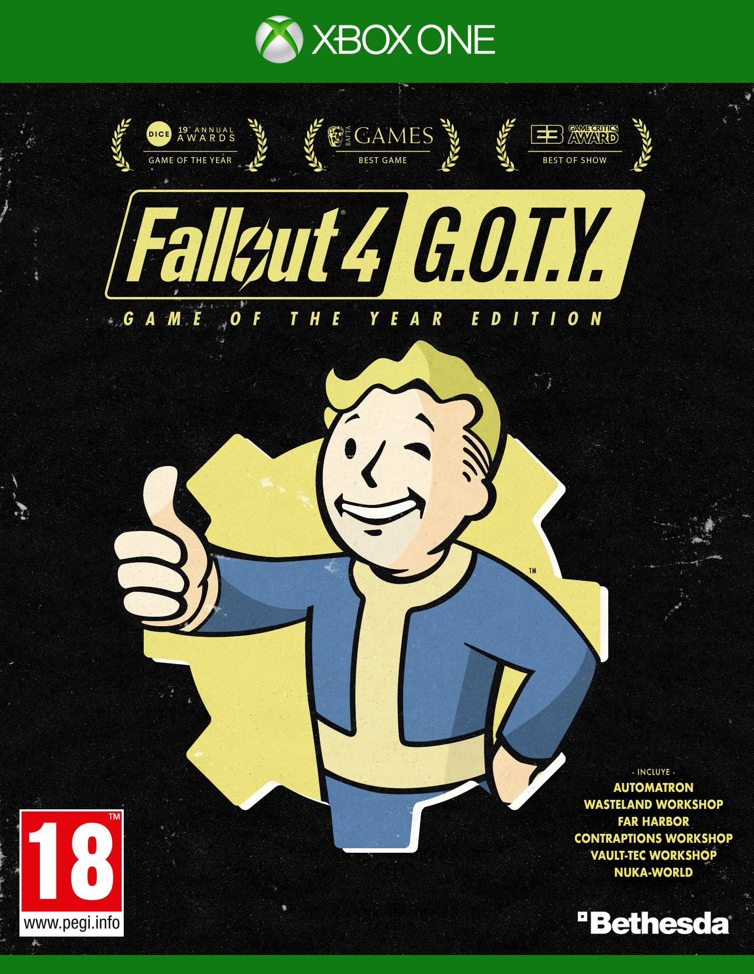 Fallout 4 Game of the Year Edition Xbox One Boxart