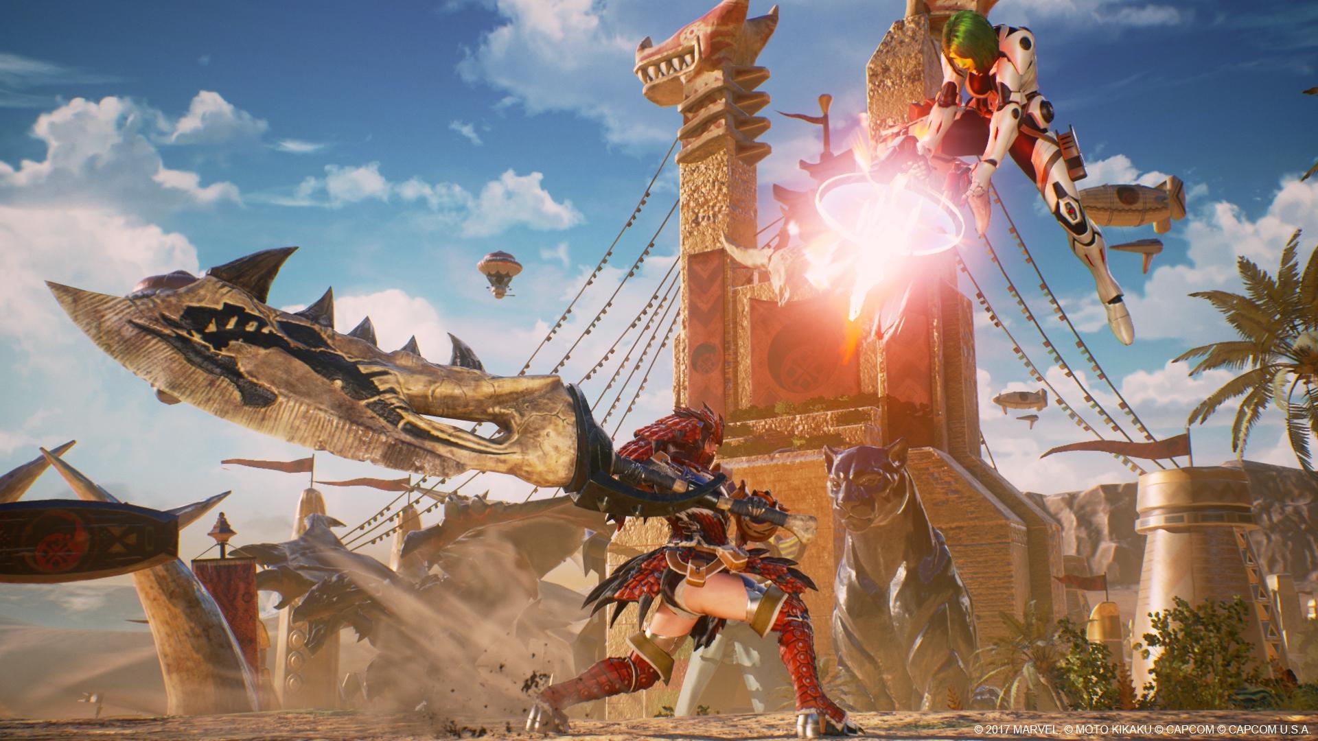 Marvel vs Capcom Infinite Monster Hunrter DLC Screen 6