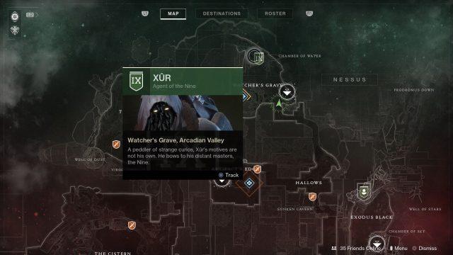 Destiny 2 Xur Location September 15, 2017