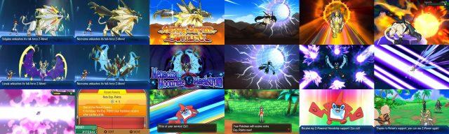 Pokemon Ultra Sun and Ultra Moon Screens Mosaic