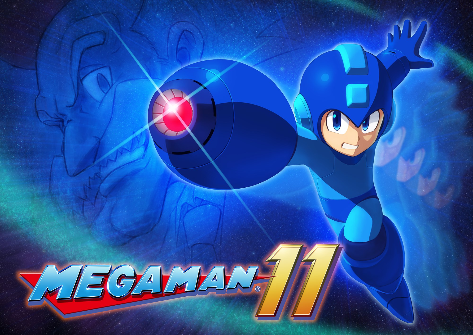 Mega Man 11 Key Art
