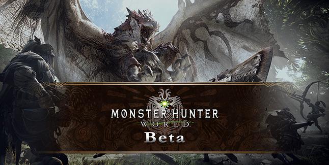 Monster Hunter World Beta Banner