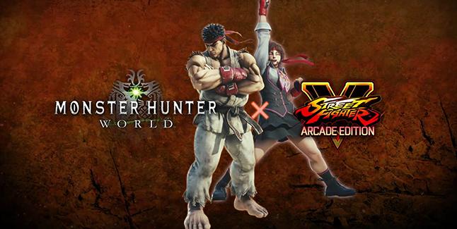Monster Hunter: World x Street Fighter V Collaboration Banner