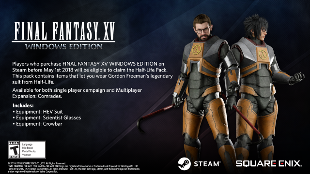 Final Fantasy XV Windows Edition Half-Life Pack