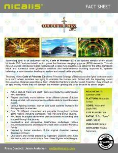 Code of Princess EX Fact Sheet