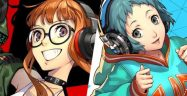 Persona 3 and 5 Dancing Banner Fuuka Futaba