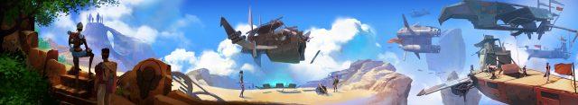 Worlds Adrift Panoramic Key Art