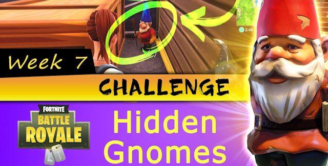 Fortnite Battle Royale Week 7 Challenges: Hidden Gnomes Named Locations Guide