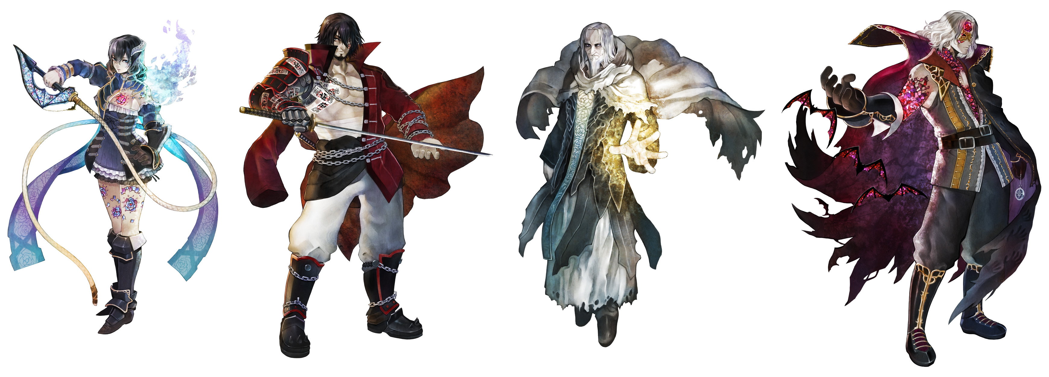 Bloodstained Curse Of The Moon Characters
