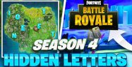Fortnite Season 4 Week 1 Challenges: Treasure Map & Letters Locations Guide