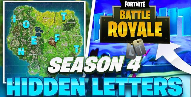 Fortnite Season 4 Week 1 Challenges Treasure Map