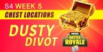 Fortnite Season 4 Week 5 Challenges: Treasure Map & Chests Locations Guide