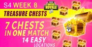 Fortnite Season 4 Week 8 Challenges: Treasure Map & Chests Locations Guide