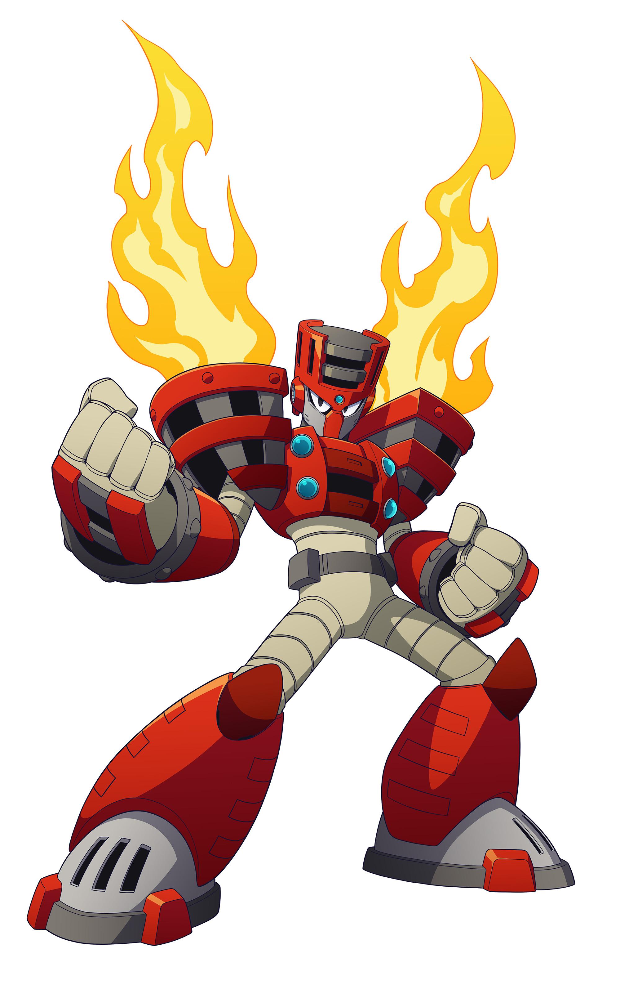 Mega Man 11 Torch Man Render