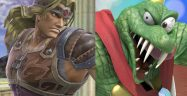 Super Smash Bros. Ultimate Simon Belmont and King K. Rool Banner