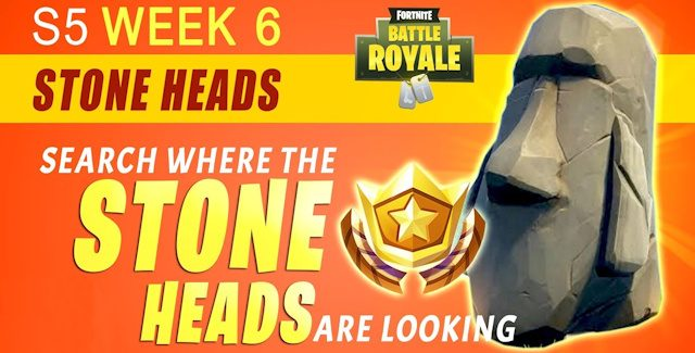 Fortnite Season 5 Week 6 Challenges: Battle Star Treasure Map & Stone Heads Locations Guide