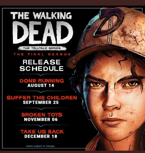 The Walking Dead: The Final Season Episode 2, 3 & 4 Release Date