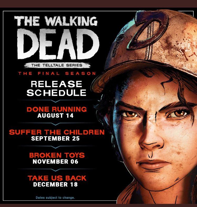 The Walking Dead: The Final Season Episode 2, 3 & 4 Release Date