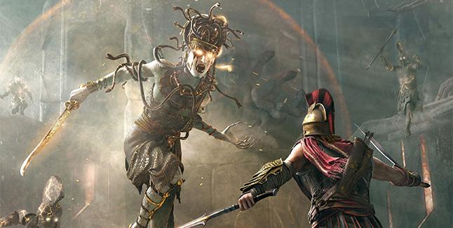 Assassin's Creed Odyssey Medusa Fight Banner