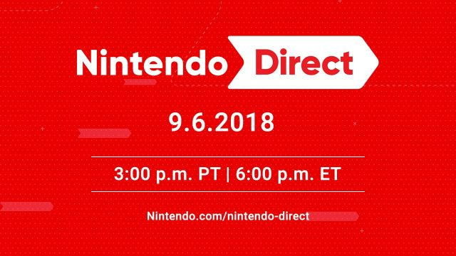 Nintendo Direct September 2018 Banner