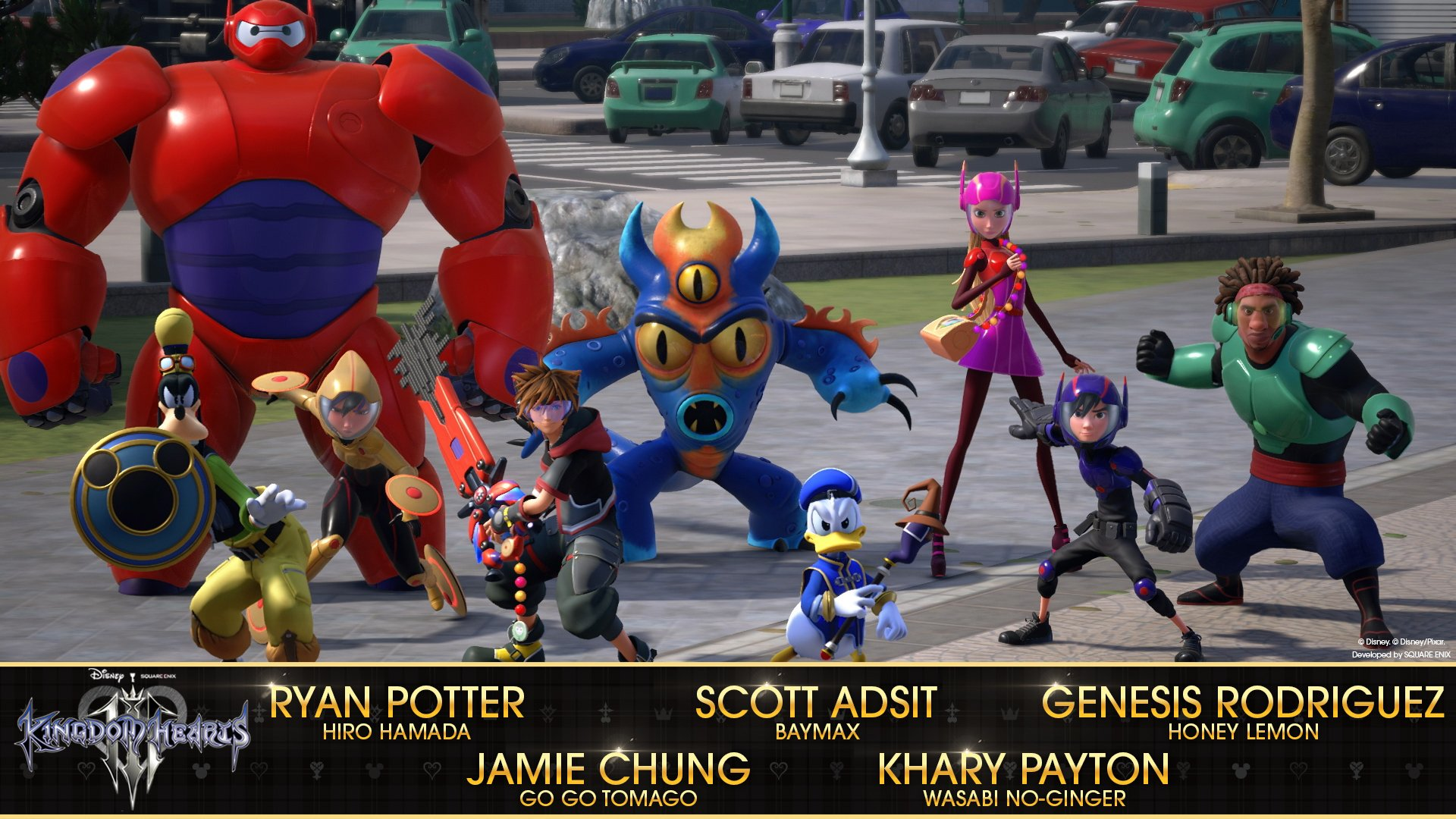 Big Hero 6 cast in Kingdom Hearts III