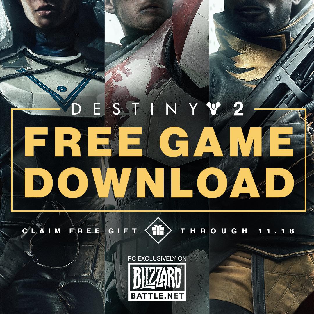 Destiny 2 Blizzard Free Game Key Art