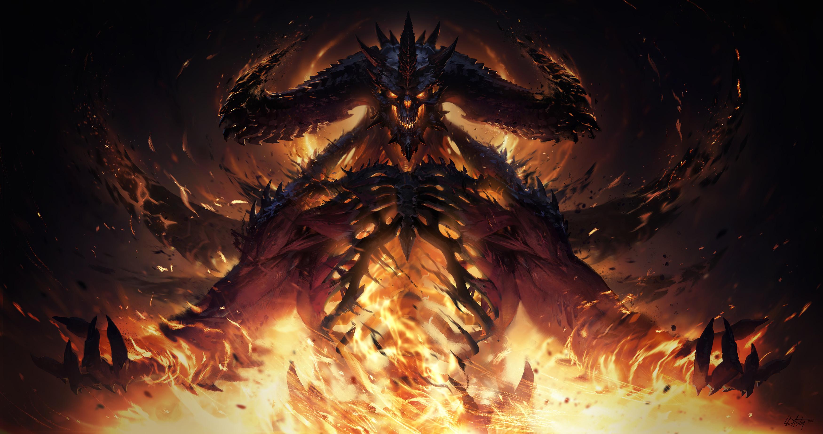 Diablo Immortal Diablo Bone Concept Art