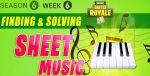 Fortnite Season 6 Week 6 Challenges: Battle Star Treasure Map, Sheet Music & Piano Locations Guide