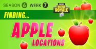 Fortnite Season 6 Week 7 Challenges: Battle Star Treasure Map, Apples Locations Guide