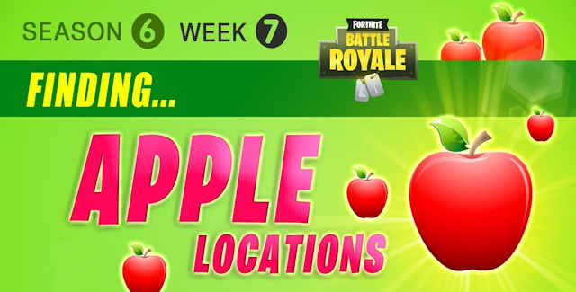 fortnite season 6 week 7 challenges battle star treasure map apples locations guide - where do apples spawn in fortnite battle royale season 8