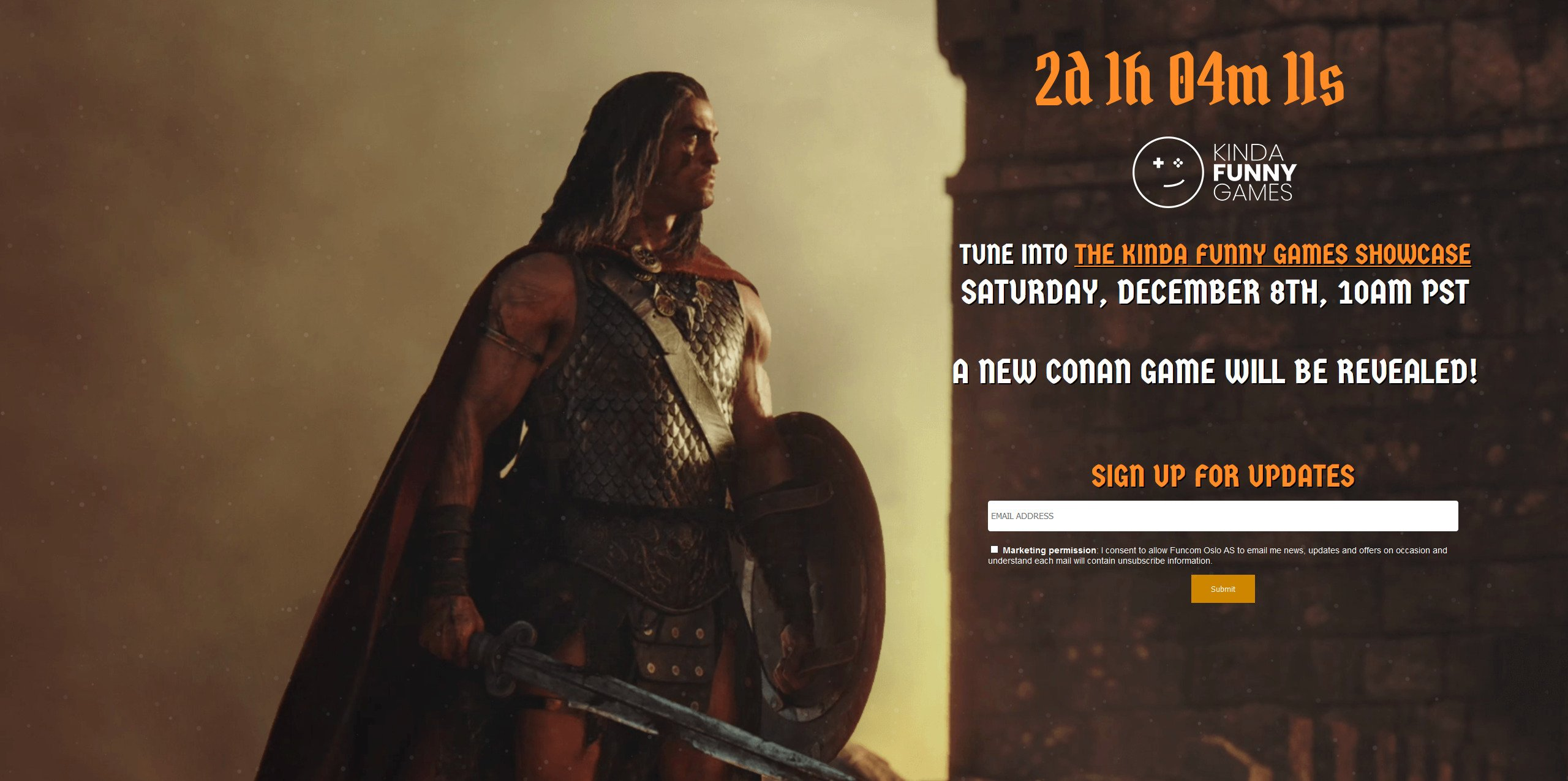 New Conan Game Countdown