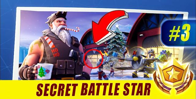 fortnite season 7 week 3 challenges battle star treasure map candy canes ski lodges doorbells locations guide - fortnite week 3 secret battle star