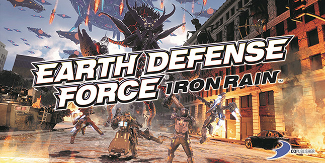 Earth Defense Force Iron Rain Key Art Logo