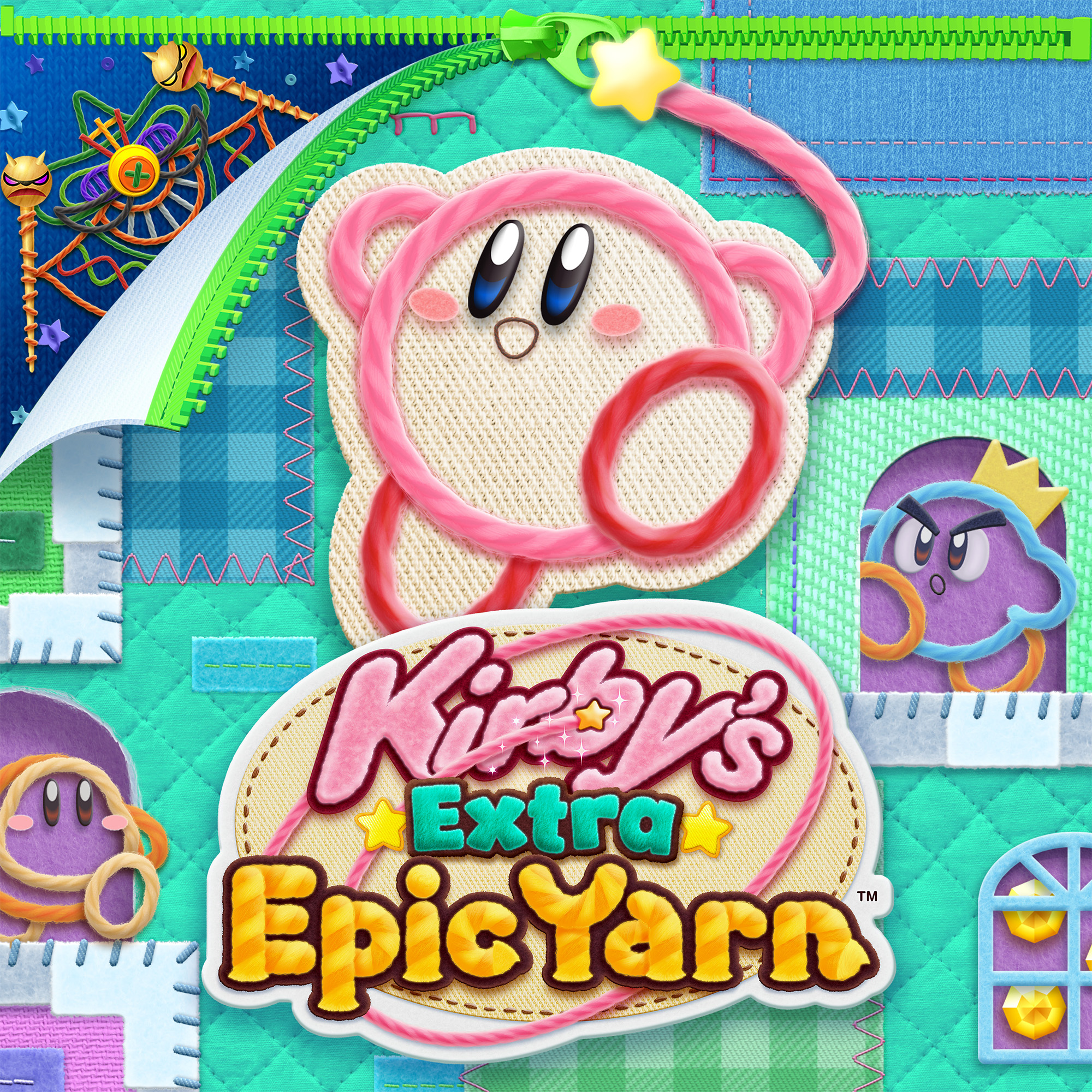 Kirby's Extra Epic Yarn Key Art