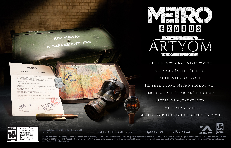 Metro Exodus Master Artyom Edition