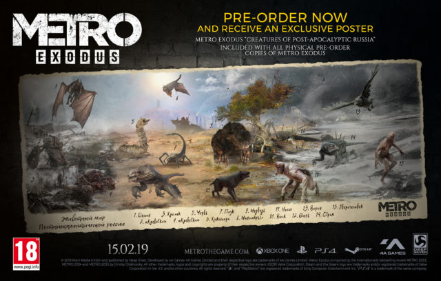 The Creatures of Metro Exodus Poster