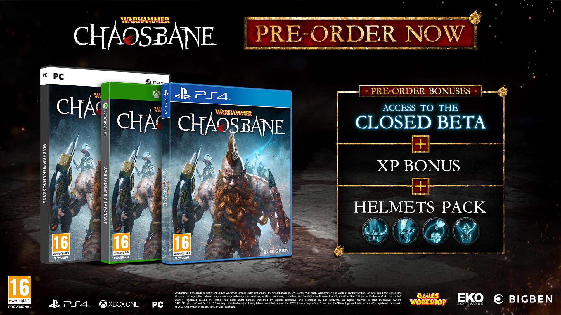 Warhammer Chaosbane Logo Pre-Order Bonus
