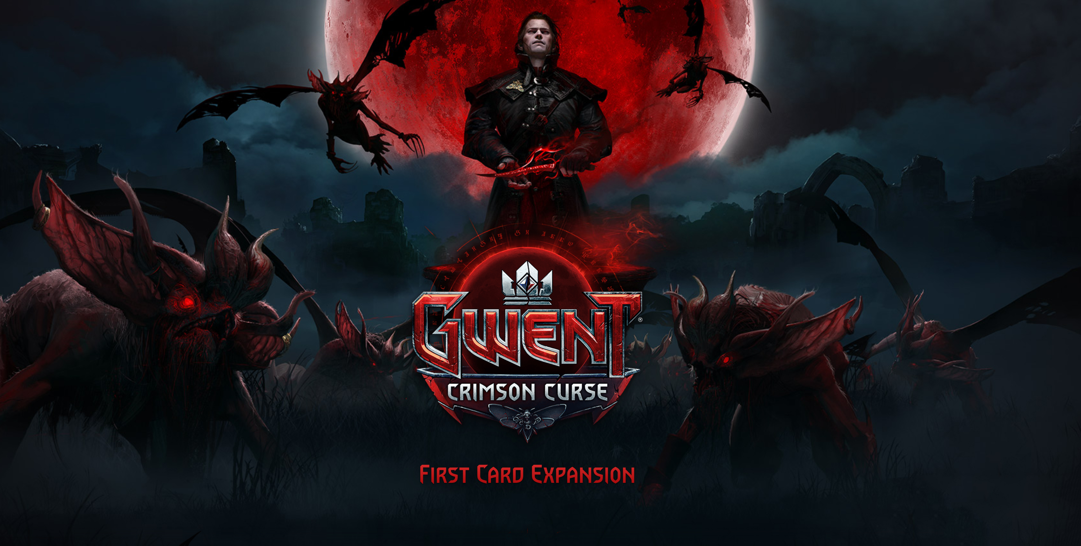 GWENT The Witcher Card Game Expansion Crimson Curse Key Art
