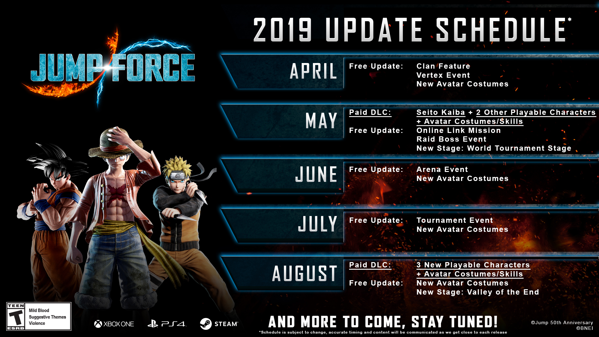 Jump Force DLC Roadmap