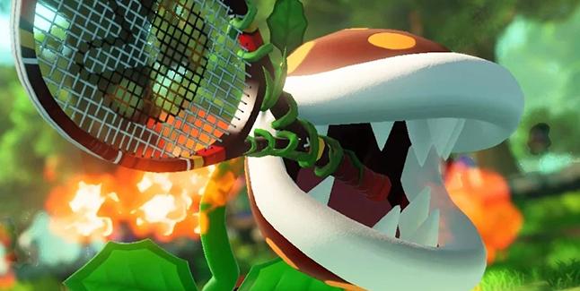 Mario Tennis Aces Fire Piranha Plant Banner