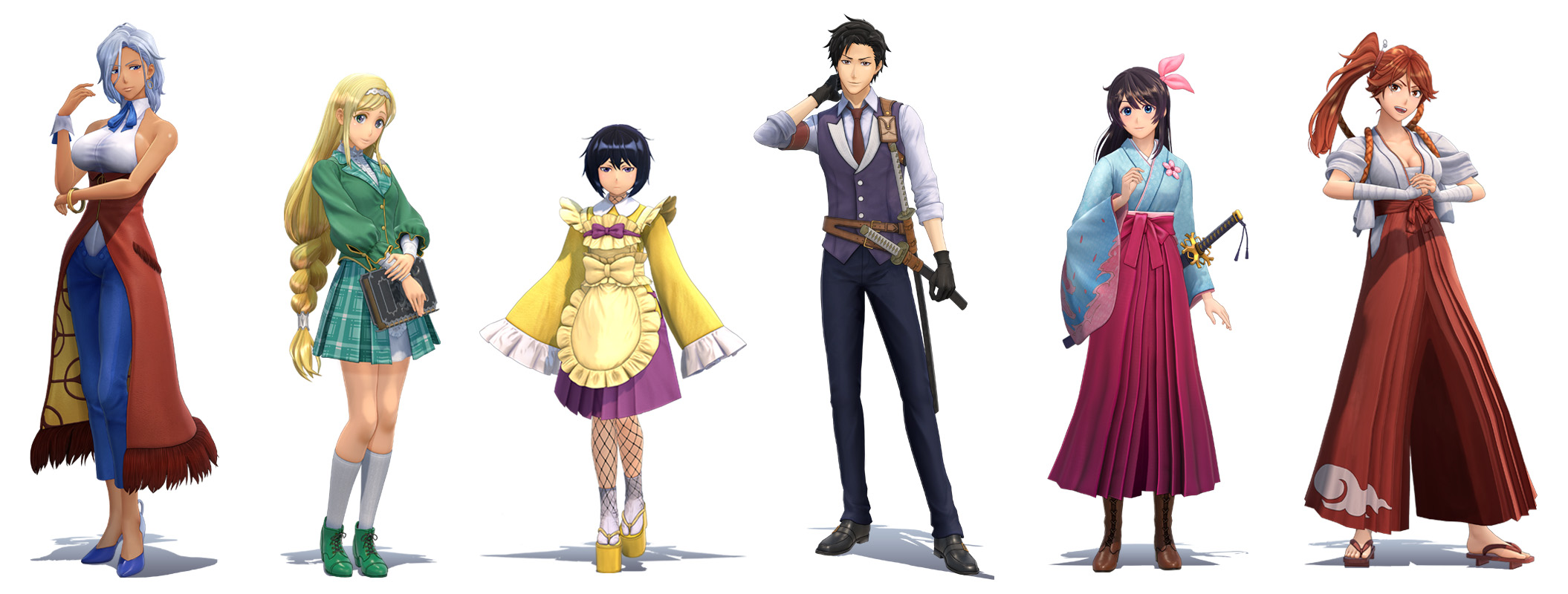 Project Sakura Wars Characters Renders