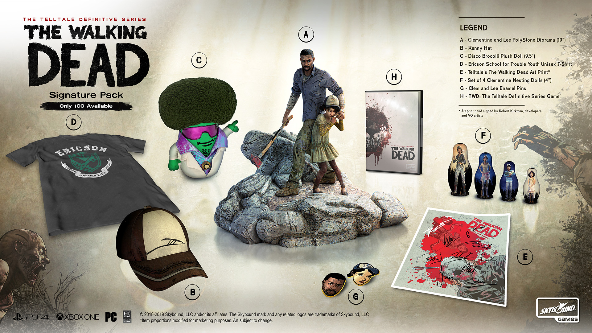 The Walking Dead The Telltale Definitive Series Signature Pack