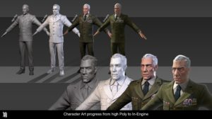 XIII Character Art Progress